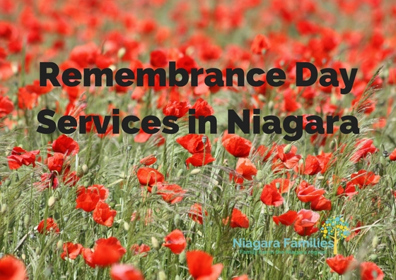 remembrance day ceremonies in Niagara